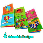 Baby Soft Cloth Fabric Book Cute Animals 6 Designs