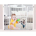 Swing Closed Metal Security Gate for Pet Child Safety + Extension Kit