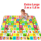 2m x 1.8m Large Alphabet Baby Kids Play Mat