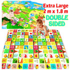 2m Double Sided Large Alphabet & Animal Farm Baby Kids Play Mat