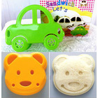 4 Pack Kitchen Tools: 2 Teddy Bear + 2 Car Sandwich Makers