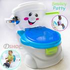 Smiley Face Potty Toddler Toilet Trainer Blue
