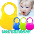 6 x  Waterproof Adjustable Bibs with Crumb-Catcher
