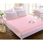 Luxe Waterproof Fitted Sheet and Mattress Protector King Size 180cm (Pink/Apricot)