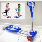 4 Wheel Frog Kick Scooter (Blue)