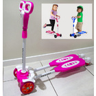 4 Wheel Frog Kick Scooter (Pink)
