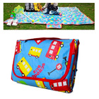 1.8m x 1.6m Foldable Waterproof Kids Mat Children Outdoor Picnic Rug with Bag (Blue Car)