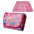 1.8m x 1.6m Foldable Waterproof Kids Mat Children Outdoor Picnic Rug with Bag (Pink Princess)