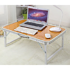 Portable Foldable Laptop Desk Indoor/Outdoor Coffee Table (Oak)