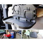 Car Back Seat Foldable Portable Food Tray Table with Cup Holders