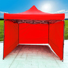 3-Side Gazebo Walls 3m x 3m (Red- Walls Only)