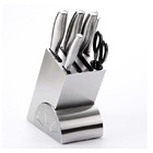 Professional Full Stainless Steel Deluxe 7-Piece Knife Block Set