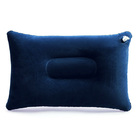 Inflatable Travel Pillow Head Rest Air Support Blow up Cushion (Navy)