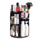 360 Degree Rotating Jewellery Cosmetic Makeup Organizer Shelf (Black)