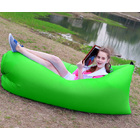 Inflatable Air Sofa Lounger Lazy Couch in Portable Bag (Lime Green)