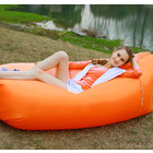 Inflatable Air Sofa Lounger Lazy Couch in Portable Bag (ORANGE)