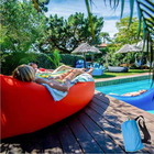 Inflatable Air Sofa Lounger Lazy Couch in Portable Bag (RED)