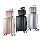 2-Piece Ultra Light Tough Standard Cabin Luggage Suitcase Set