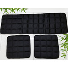 3-Piece Large Set Bamboo Charcoal Seat Cushions for Car/Office Chair/Couch