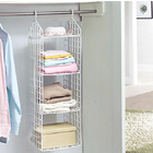 Expand Wardrobe Organizer 4 Shelf Closet Hanging Rack