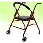 Senior's Foldable Rollator Mobility Walker Walking Frame with Seat