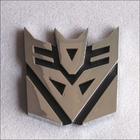 3D Transformer Decepticon Badge Chrome Emblem Car Sticker Auto Transformers