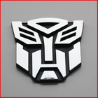 3D Transformer Autobot Badge Chrome Emblem Car Sticker Auto Transformers