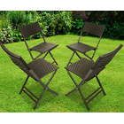 4 x Alfresco Rattan Wicker Foldable Outdoor Chair