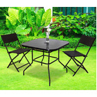 Alfresco 3 Piece Outdoor Setting (2 Rattan Chairs & Square Table)