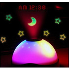 Projector Alarm Clock Time/Date/Starry Sky Projection