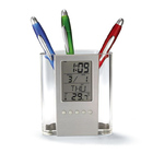 2 x Digital Calendar Pen Holder Alarm Clocks