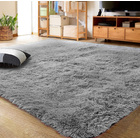 XL Comfy Fluffy Soft Anti-Slip Rug Floor Mat (Grey,160 x 230)
