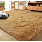 XL Comfy Fluffy Soft Anti-Slip Rug Floor Mat (Caramel,160 x 230)