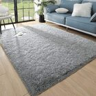 Plush Luxury Shag Rug Carpet Mat (Grey,120 x 160 cm)