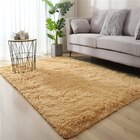 Plush Luxury Shag Rug Carpet Mat (Beige,120 x 160)