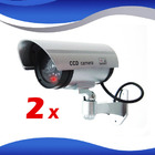 2 x IR Simulation Dummy Security Cameras