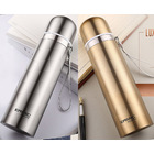 2 x Stainless Steel Thermal Flasks (1 x Gold + 1 x Silver)