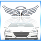 3D Angel Wing Car Sticker Auto Decal