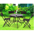 Alfresco 5 Piece Outdoor Setting (4 Rattan Chairs & Round Table)