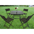 Alfresco 5 Piece Outdoor Setting (4 Rattan Chairs & Square Table)