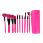 12PC Luxe Pink Professional Makeup Brush Set with Case