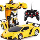 2 In 1 Robot Lamborghini Super Transformer Remote Control Car Toy (Yellow)