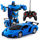 2 In 1 Robot Lamborghini Super Transformer Remote Control Car Toy (Blue)