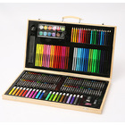 180 PC Large Complete Painting Set In Wooden Box Drawing Colour Pens Kit