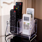 Deluxe Acrylic Remote Control Holder 6 Storage Shelf