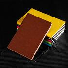 2 x PU Leather Covered Notebook (2 pack) (Brown)