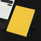 2 x PU Leather Covered Notebook (2 pack) (Yellow)