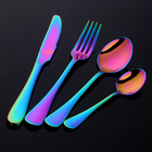 4 PC Knife and Fork Cutlery Set in Gift Box (Colourful)