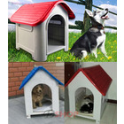 Deluxe Dog Kennel Pet Puppy Dog House Home Indoor/ Outdoor Red