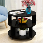 Vogue Round Coffee Table (Black Wood)